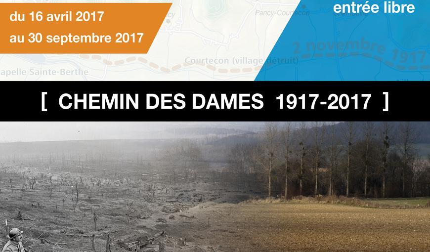 Affiche de l'exposition : Chemin des Dames 1917-2017