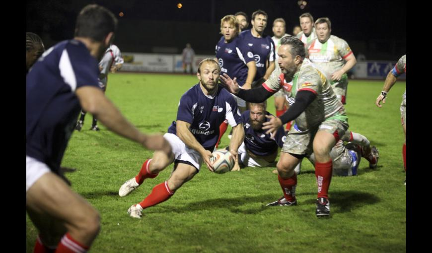 Match de gala entre les stars du rugby britannique « Rugby for Heroes » et les anciens internationaux français des « French Legends ».